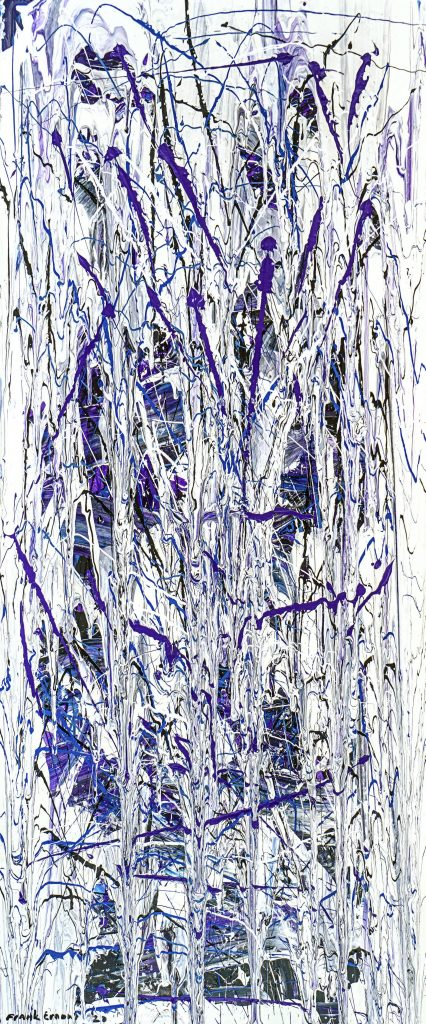 PurpleWhiteForest - 200 x 90 - Acrylic on door - January 2020